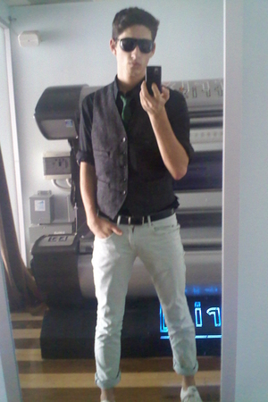 Zara jeans - jack purcell shoes - Express shirt - J Crew vest - H&M tie - Aldo g