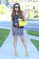 PUBLIK skirt - Olivia and Joy bag - Vintage Havana top