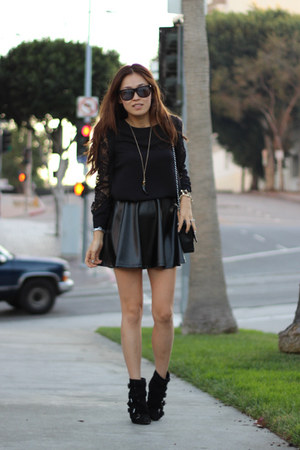 leather skirt PUBLIK skirt - PUBLIK blouse