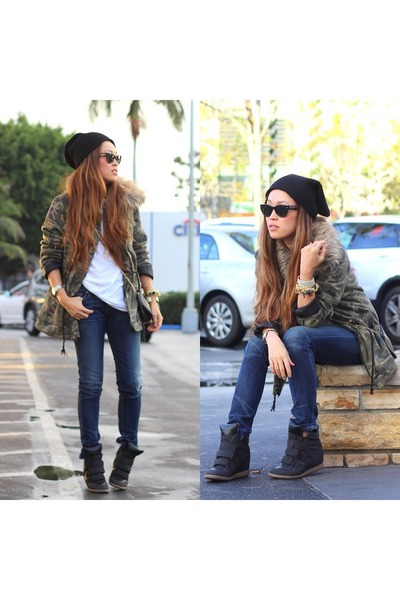 Charlotte Russe hoodie - citizens of humanity jeans - PUBLIK hat