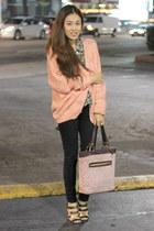 H&M blouse - black skinnies J Brand jeans - PUBLIK cardigan