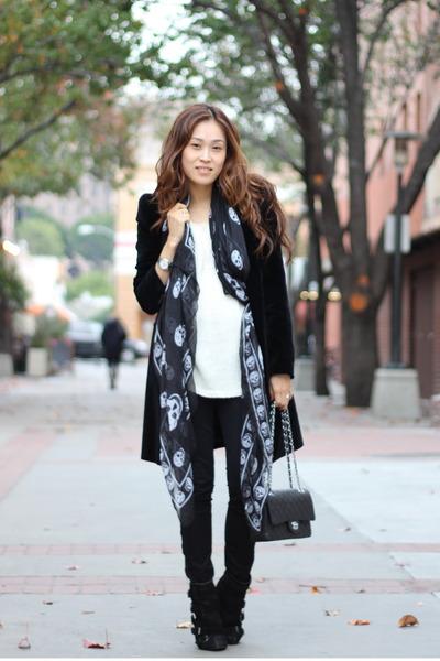 PUBLIK scarf - Zara coat - J Brand jeans