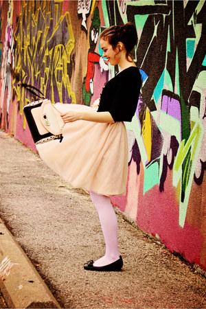 peach tulle modcloth skirt - peach Aldo bag