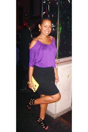 blouse - skirt - shoes - purse