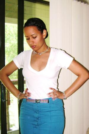 aa shirt - skirt - vintage belt