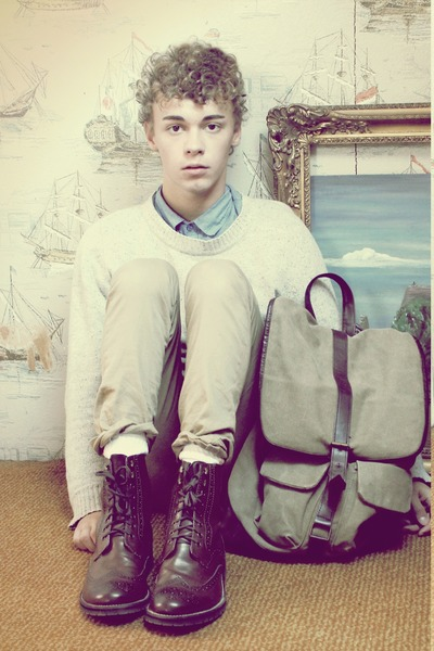 brogues H&M boots - H&M shirt - vintage bag River Island bag
