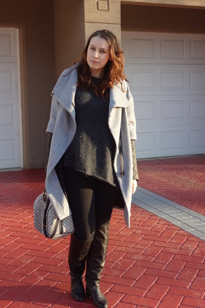 Zara coat - Bata boots - c&a jeans - Zara sweater - Louis Vuitton bag