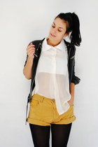 gold REPLAY shorts - black Zara jacket