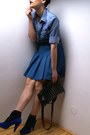 Blue-moschino-blouse-blue-zara-shoes-blue-vintage-skirt
