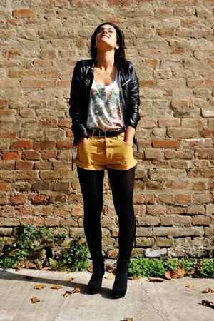 Zara jacket - REPLAY shorts - Bershka t-shirt