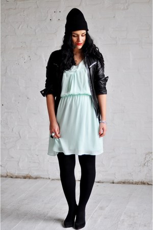 aquamarine H&amp;M dress - black Zara jacket