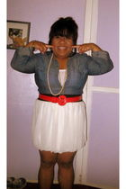 white Forever 21 skirt - blue moms clothes blouse