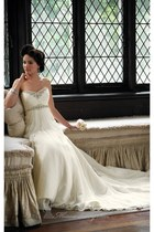 off white David Tutera for Mon Cheri dress