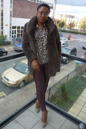 dark brown fur TK Maxx coat