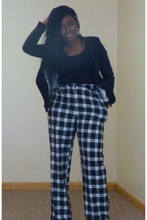 black Zara blazer - black Primark top