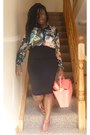 Black-floral-h-m-shirt-pencil-skirt-primark-skirt-t-bar-next-sandals