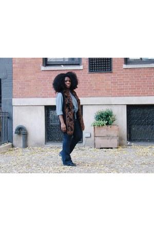 Micheal Kors jeans - JJill top - hm vest