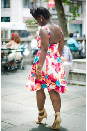 Brigette Clarice skirt - Brigette Clarice top - nude Steve Madden heels