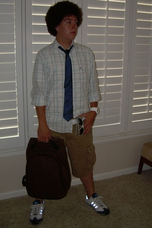 Mossimo shirt - Original Penguin tie - Wilsons purse - adidas shoes