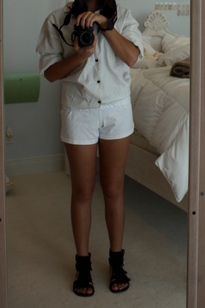 vintage from Moms closset shirt - Soffe shorts - Steve Madden shoes