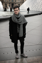 gray Zara scarf - gray Zara shoes