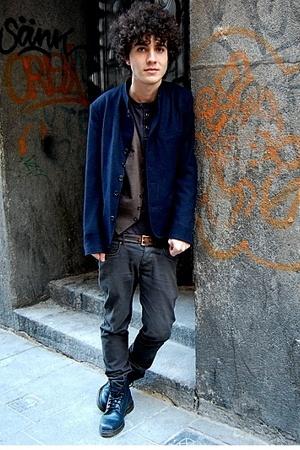 doc martens boots - Japanese closet jacket - H&M pants - vintage belt - vintage