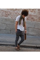 Thomas Burberry t-shirt - vintage pants - vintage scarf - Superga shoes