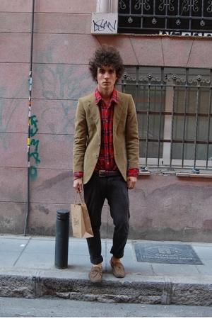 Paul Smith jacket - vintage shirt - H&M pants - Superga shoes