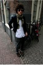 Ralph Lauren jacket - vintage scarf - vintage shirt - H&M jeans