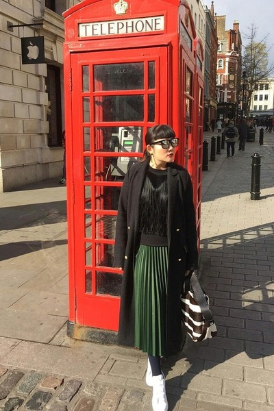 Zara skirt - Adidas shoes - Zara coat - Boyy bag - gentlemonster sunglasses