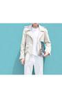 Silver-maison-martin-margiela-bag-eggshell-acne-jacket-silver-acne-flats