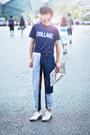 Navy-31-phillip-lim-jeans-silver-maison-martin-margiela-bag