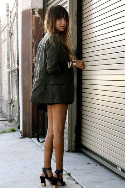 BCBG blazer - 31 Phillip Lim bag - leather Kill City shorts - Michael Kors heels