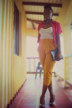 purse - pants - top