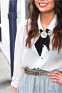 Silver-silk-chiffon-jolie-elizabeth-skirt-silver-sheer-gap-shirt
