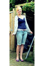 Sky-blue-denim-matalan-shorts-cream-punky-fish-cardigan