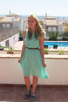 aquamarine Matalan dress - light brown Matalan belt
