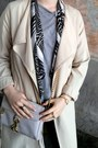 Beige-h-m-coat-black-h-m-jeans-heather-gray-h-m-shirt