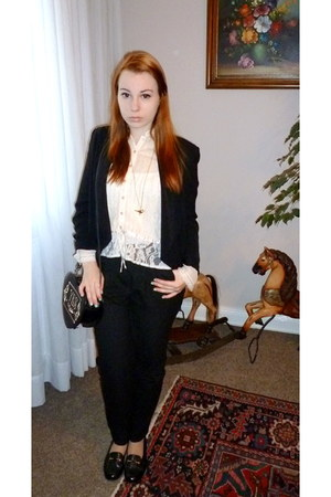 black H&M blazer - black Lollipops bag - black H&M pants