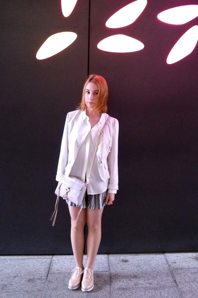 white Lecoindelle jacket - neutral Rebecca Minkoff bag