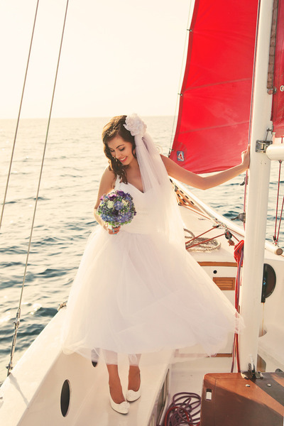 white wedding Gabbiano dress