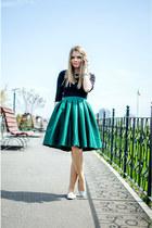 teal Sheinsidecom skirt - black Lefties blouse