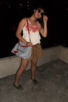 Candy Bag bag - Zara shorts - Ray Ban sunglasses - Bayo flats - divisoria belt