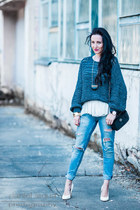 heather gray knit grey Mango sweater