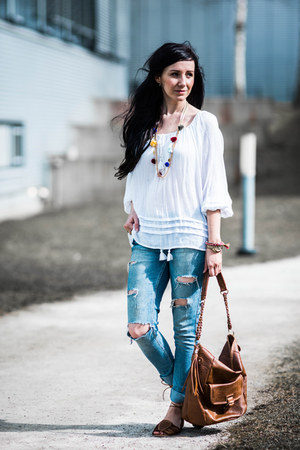 white loose fit Denim&Supply by Ralph Lauren blouse