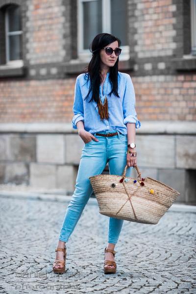 sky blue Primark blouse