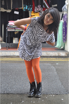 doc martens boots - Kate Moss for Topshop stockings - Indiesin dress - cosmic cl