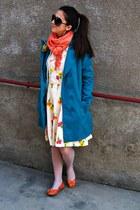 jacket - scarf - flats