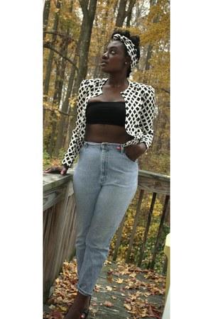denim jeans Lee jeans - silk no name blazer - American Apparel top