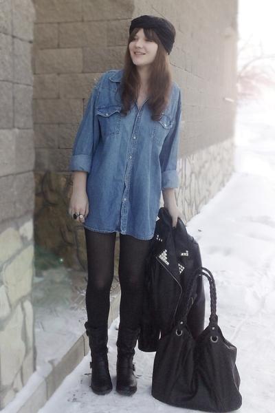 blue vintage shirt